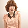 2012年日系春夏髮型@蜜糖橘髮色俏麗捲捲髮造型A-1