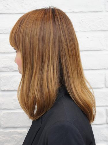 2012年日系春夏髮型@蜜棕色直髮光感風格造型A-2