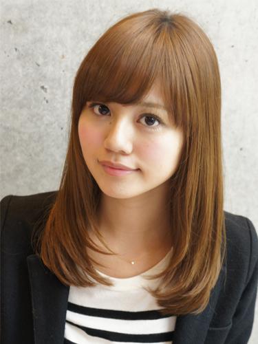 2012年日系春夏髮型@蜜棕色直髮光感風格造型A-1