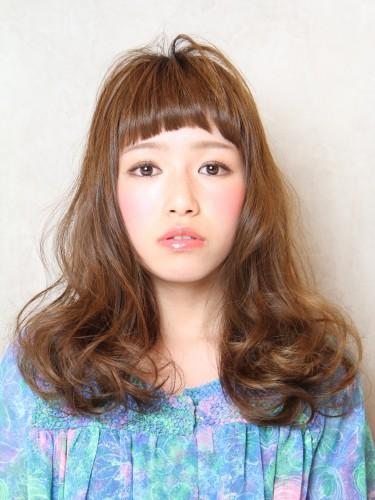 2012年東京風格夏日長捲髮型A-1