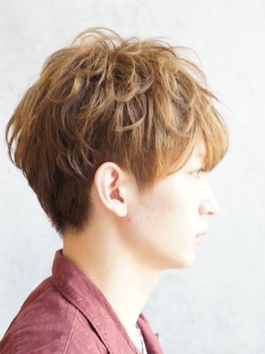 2012年日系型男夏日時尚風格燙染髮髮型分享A-2