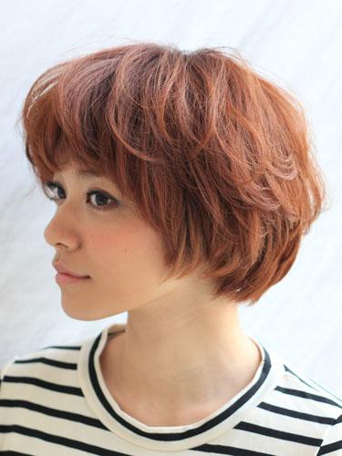 2012年日系鮑勃俏麗感燙染髮髮型分享A-2