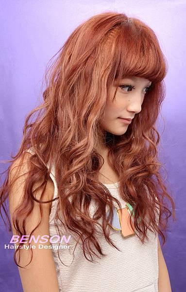 燙染設計@營造甜美亮麗的日系潮流髮型