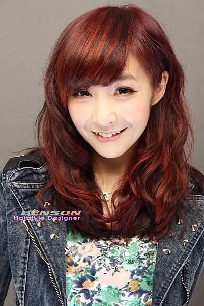 雨葶@潮流亮麗款雙色染髮設計-西門町尚洋髮型班森