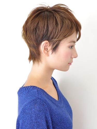 【簡單易打理】自然可愛的短髮髮型A-2