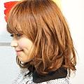 【COLOR】閃亮的金色質感中長捲髮迷人風格髮型A-2