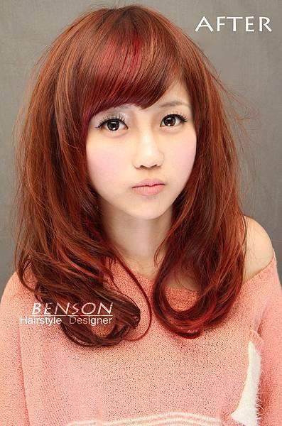 敏敏美眉-秋冬風潮染燙髮型設計小臉呈現甜美風格