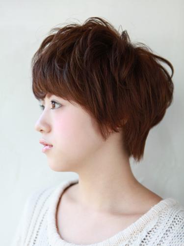 自然短髮混搭小臉髮型-摩卡棕色調A-2-西門町髮型師benson分享
