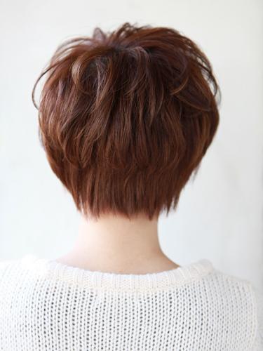 自然短髮混搭小臉髮型-摩卡棕色調A-3-西門町髮型師benson分享