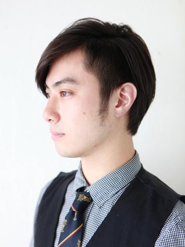 提高側剪的時尚風格男生髮型A-2