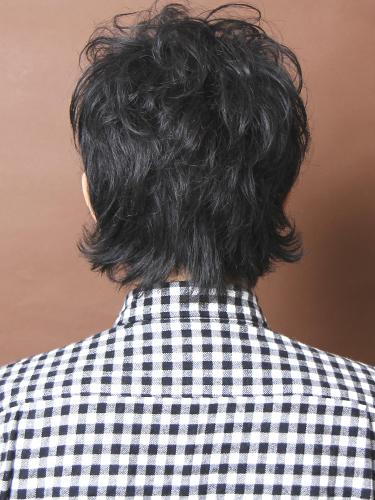 鬆散的法國風格捲度髮型A-3