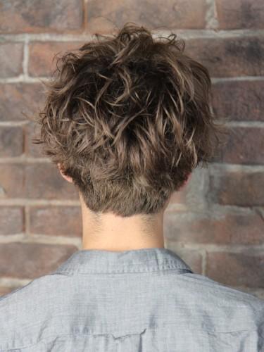 風格時尚的季節捲燙髮型-散亂感時尚風A-3-西門町髮型師benson分享