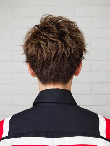 混搭燙髮捲度設計呈現另一款時尚潮流風格A-3-西門町髮型師benson分享