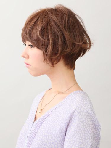 可愛捲曲感短劉海髮型空氣燙髮型A-2