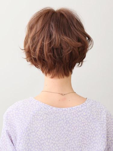 可愛捲曲感短劉海髮型空氣燙髮型A-3