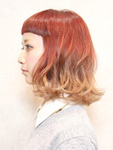 UP時尚度的漸變色亮麗髮型-個性短瀏海A-2
