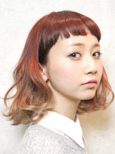 UP時尚度的漸變色亮麗髮型-個性短瀏海A-1