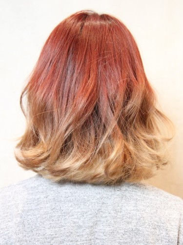 UP時尚度的漸變色亮麗髮型-個性短瀏海A-3