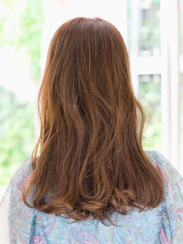 可愛小臉效果女生長捲髮型A-3