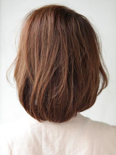 自然鬆軟感輕女性風格中長髮型A-3