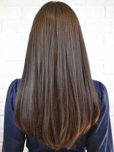 厚劉海時尚但簡單可愛的長直髮型A-3