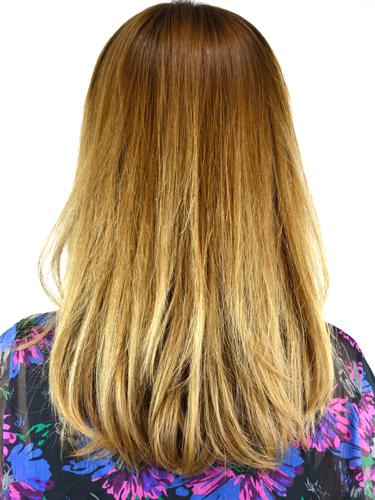流行搖滾休閒原宿風格-中間漸變色髮型A-3