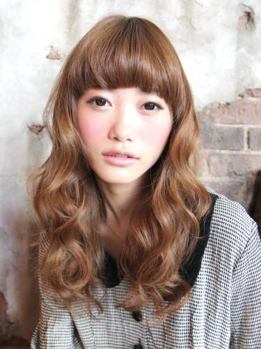 閃亮可愛的鬆軟燙髮風格-蜂蜜焦糖米色髮型A-1