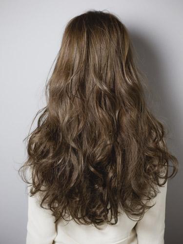 無辜感短瀏海長捲髮型-質感茶褐色女孩風A-3