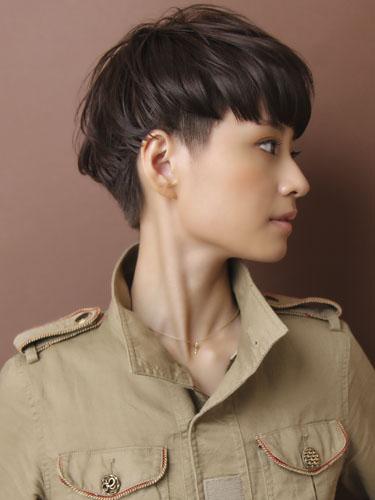 歐洲混搭風格短髮型-柔和光澤質感髮色A-2