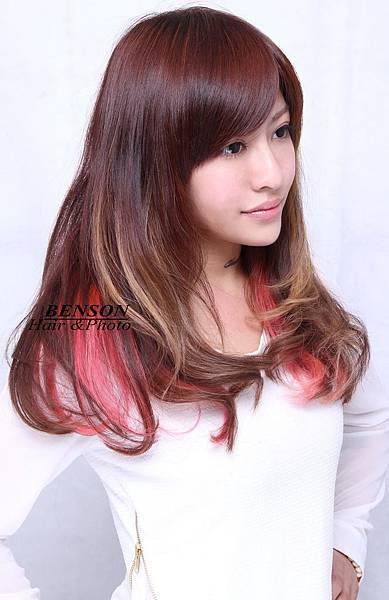 芸瑄美眉@2013豔夏季之繽紛髮色專屬髮型-西門町髮型師班森