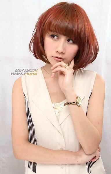 2013流行髮型-UP時尚度的漸層色亮麗髮型-造型短瀏海-西門町髮型師Benson尚洋髮藝成都店