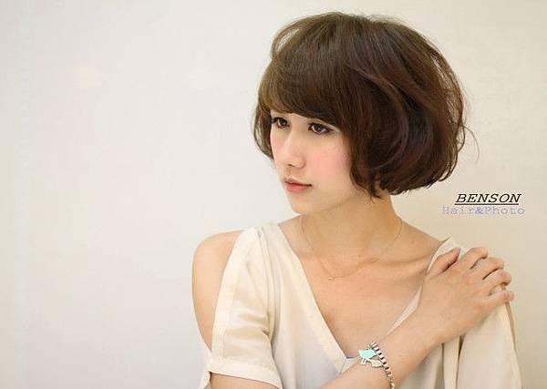 甜心女孩水漾短髮型燙染全新改造-西門町髮型師班森@尚洋髮藝成都店