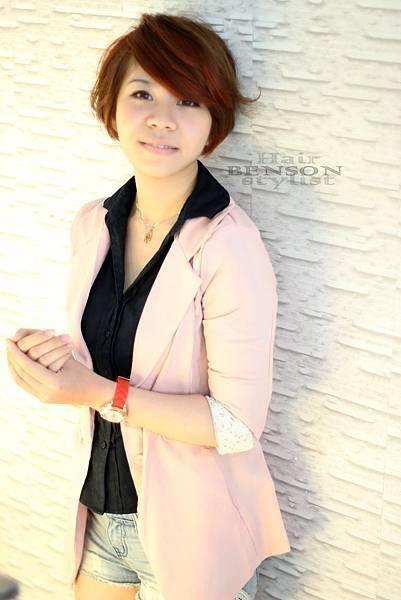2013流行髮型~摩登瀏海粉嫩橘~西門町髮型設計BENSON