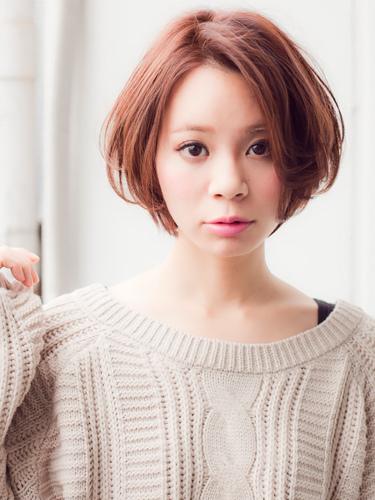 日系魅力淺棕髮色-2014女性短髮捲起風潮-1