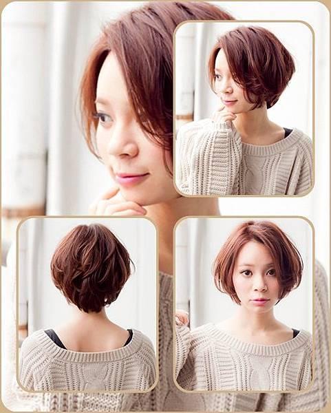 日系魅力淺棕髮色-2014女性短髮捲起風潮