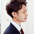 時髦的商務男性髮型-深棕色A-2