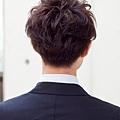 時髦的商務男性髮型-深棕色A-3