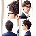 適合眼鏡的商務專業風格髮型