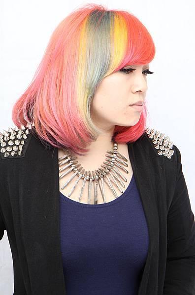 流行髮色挑染區塊染特殊染