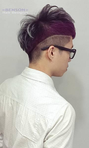 男生髮型幾何染髮