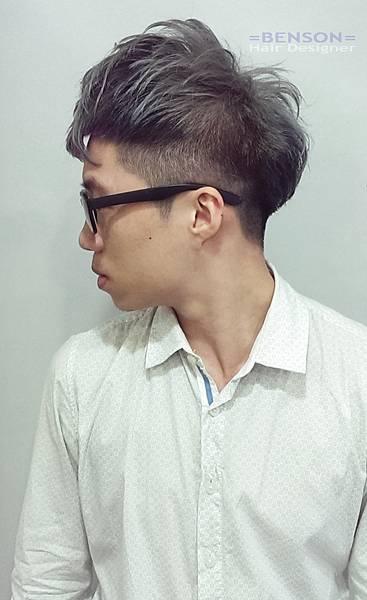 男生髮型鐵灰色