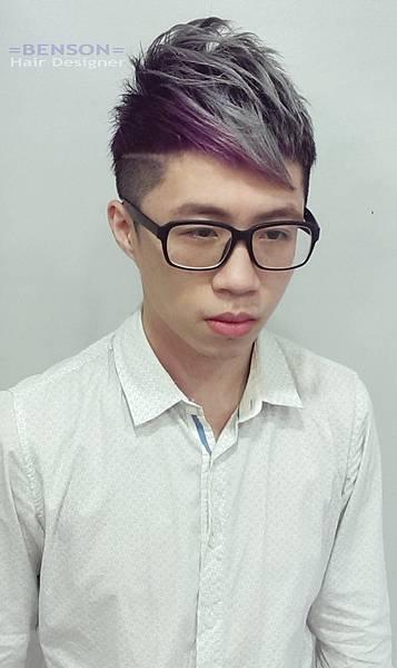 型男髮型撞色染髮