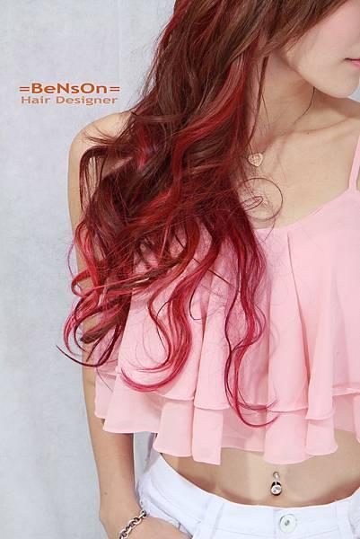 挑染出豔麗的髮色