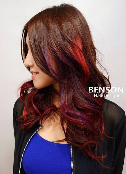 紫色浪漫質感流行髮色