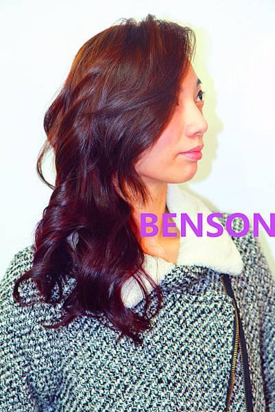 高質感深紫色流行髮色