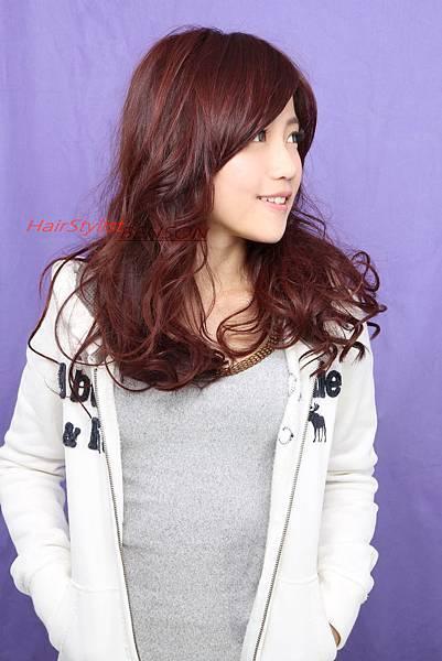 韓式流行髮色~櫻桃覆盆子