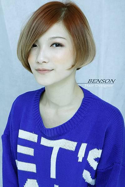 台北西門町東區流行髮型流行髮色短瀏海鮑勃BOB