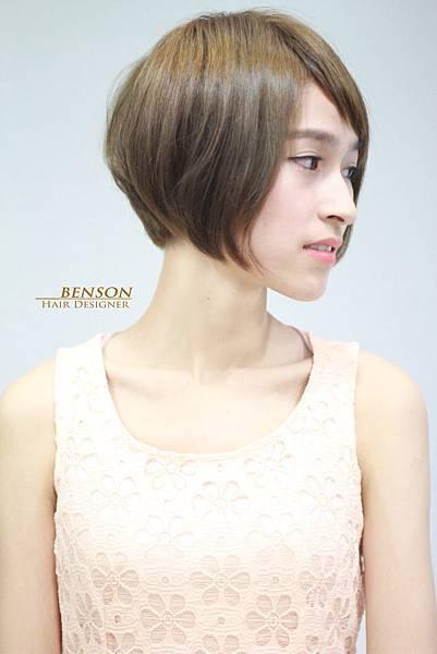 夢幻霧化綠棕色 台北西門町東區流行髮型流行髮色