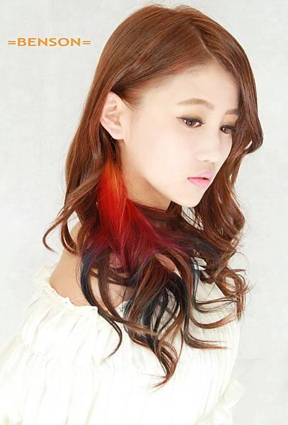 個性及甜美兼具的區塊染髮的魅力