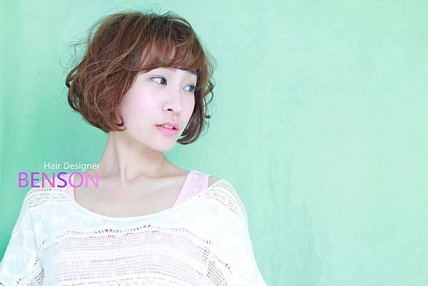 休閒甜美短髮燙捲髮型.JPG